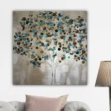 wexford home a teal tree by katrina craven canvas wall art on whimsical wall art on canvas with wexford home a teal tree by katrina craven canvas wall art front
