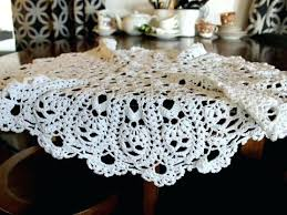 crochet table cloths large crochet table topper chunky crocheted centerpiece handmade linens easy crochet square tablecloth