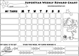 weekly reward chart printable superstar weekly reward chart printable also available boys