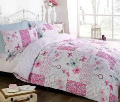 Dream Patchwork Duvet Cover Quilt Bedding Set, Pink, Double ... & Dream Patchwork Duvet Cover Quilt Bedding Set, Pink, Double (Flowers &  Butterflies): Amazon.co.uk: Kitchen & Home Adamdwight.com