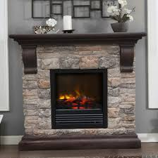 faux stone electric fireplace home design ideas stone electric fireplace