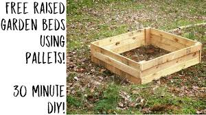 Free Raised Garden Beds Using Pallets My Lil Garden Youtube