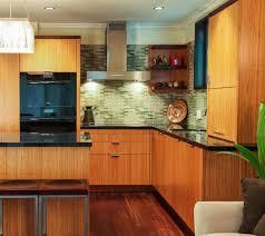 Eco Friendly Kitchen Cabinets Modern Kitchen With Bamboo Cabinets Eco Friendly Green Kitchen