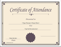 Best Of Certificate Of Attendance Sample Shawn Weatherly
