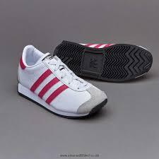 adidas girls. girls shoes - adidas originals infant country og white / bold pink