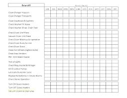 Pm Schedule Template Preventative Maintenance Plan Example