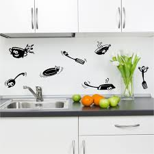 Kitchen Stencil Kitchen Cupboard Cartoon Stickers Vinyl Wall Art Decal Transfer