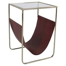 Faux Leather Magazine Holder Extraordinary Faux Leather Magazine Holder Side Table Temple Webster