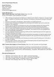 Licensed Psychologist Sample Resume Impressive Sample School Psychologist Resume Inspirational Psychology Sample