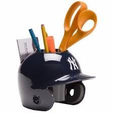 new york yankees baseball helmet desk caddy br less than