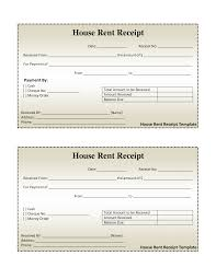 Receipt Form In Doc free house rental invoice House Rent Receipt Template DOC 1