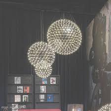 modern living room pendant light stainless steel ball led firework in stainless steel chandelier for