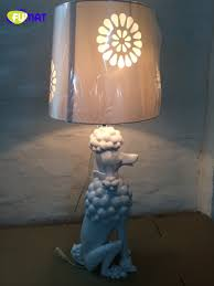 FUMAT Modern Art Deco Pudel Tischlampe Wohnzimmer Nachttischlampe ...