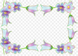 Paper With Flower Border Blue Flower Borders And Frames