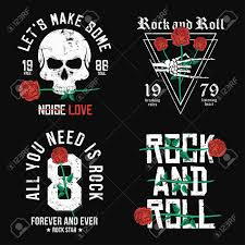 Skeleton Design T Shirt Set Of Rock And Roll T Shirt Design Red Roses Skull And Skeleton