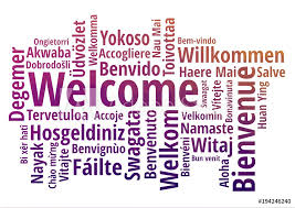 Welcome Purple Photo Art Print Welcome Word Cloud In Different Languages