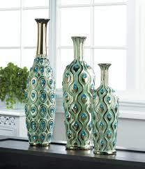 Peacock Inspired Home Decor Tall Peacock Jewel Vase Wholesale At Koehler Home Decor