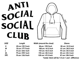 Anti Social Social Club Tee Size Chart Anti Social Hoodie Anti Social Club Hoodie Assc Hoodie