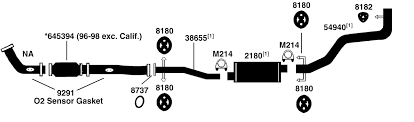 toyota pickup t100 exhaust diagram from best value auto parts 1998 toyota pickup t100 exhaust diagram