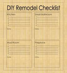 Estimate For Kitchen Remodel Gallery Of Kitchen Remodel Checklist Kitchen And Bathroom