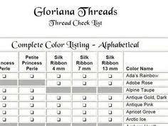 Conversion Chart Dmc To Gloriana Silk Yahoo Search Results
