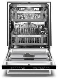 Small Dish Washer Kitchenaid Stainless Steel 24 Dishwasher Kdtm704ess Leons