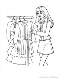 Small Picture What Dress To Choose Coloring Page Free Shopping Coloring Pages