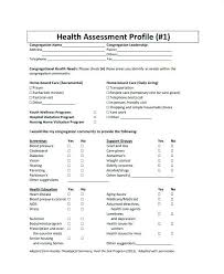 Sample Assessment Form Sample Health Assessment Template Acepeople Co