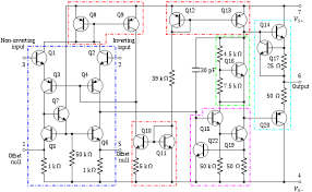 operational amplifier internal circuitry of 741 type op amp edit