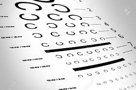 Eye Test C Chart An Eye Sight Test Chart With Multiple Lines