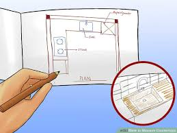 calculate countertop square footage 4 ways to measure countertops wikihow