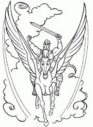 Hercules Pegasus Coloring Pages My Localdea