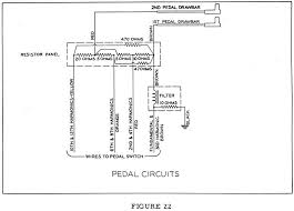 a 100 service manual figure 23 is a wiring chart for the pedals showing the frequency numbers appearing on each pedal contact