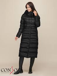 <b>Пальто пуховое</b> женское WDL 190505 nero - купить в интернет ...