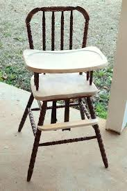wood high chair farmhouse style wood high chair makeover wood high chair with plastic tray