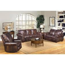 Kingston Top Grain Leather Sofa Loveseat and Recliner Living Room