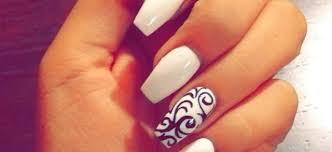 White Coffin Acrylic Nails With Design Fresh Pin Od Pouå¾vateä¾a