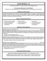 Emergency Room Nurse Resume Free Nurse Resume Magdalene Project Org