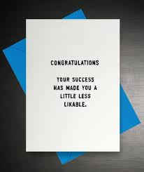 Success Funny Congratulations Card 2 75 Creased Cards