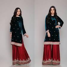 Winter Suit Design 2018 Winter Velvet Dresses Designs Latest Trends Collection 2020