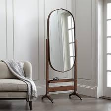 mirror. Penarth Walnut Oval Floor Mirror Mirror B