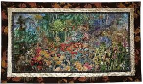 Indian Summer in the Foothills | Art Quilts in the Impressionist ... & Indian Summer Foothills Adamdwight.com