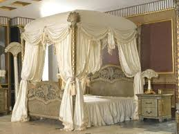 King Size Canopy Bed King Canopy Bed Drapes Royal Bedroom Furniture ...