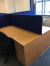 office desk divider. Office Desk - With Set Of Drawers, Chair And Divider (7 Sets Available) S