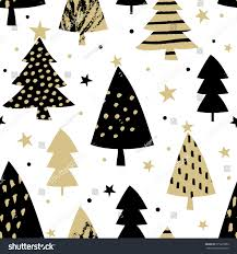 white and gold christmas wallpaper. Unique Gold Seamless Repeating Pattern With Christmas Trees In Black And Gold On White  Background Festive On White And Gold Wallpaper G