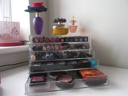 muji acrylic makeup storage drawers
