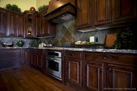 Small Picture Kitchen Idea of the Day Traditional dark cherry stained kitchens