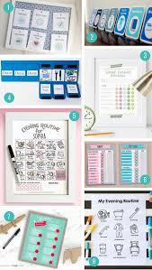 Bedtime Chart Printable Printable Diy Bedtime Routine Charts For Kids Fun Night