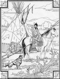 Free Native American Indian Coloring Pages With 28 Collection Of Art