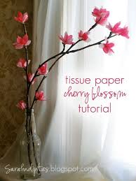 Tissue Paper Flower Pinterest Things To Make Tissue Paper Cherry Blossoms Diy Crafts